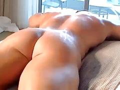 Bodybuilder Atlas and Twink in Hotel room