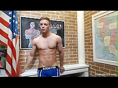 RIPPED twink strips and shows off for cam 3 of 3