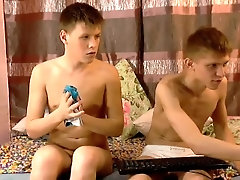 Russian brothers on webcam.
