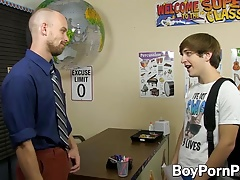 Colby and Scott doggystyle in classroom