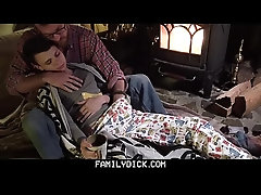 FamilyDick - Daddy warms up his wet bottom boy by fucking him hard