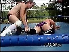 Backyard Wrestling Squash Match