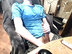 15 minute jerk off, squirting cum two feet in the air - Flint Wolf