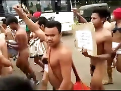 Boys from India naked protest part 1
