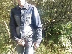 Russian boy Masturbates in public place
