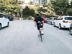 香港宅男死飛仔亂搞三聖海灘