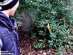 Eighteen year old Twink sucks my uncut Asian dick in the woods