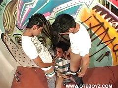 Latin Twinks Barebacking Trio