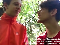 Playing in the Forest - Step, Bros Perfect Teen Ass, Rimming, Sucking and swallowing Cumshot, 18, 19